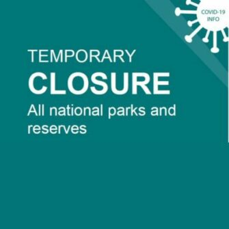 All national parks and reserves now closed