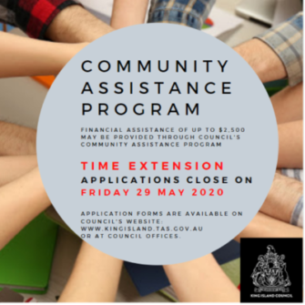 Application Time Extension – Community Assistance Program