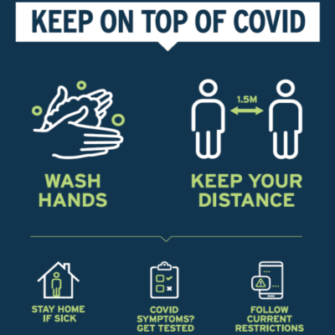 Keep on top of COVID