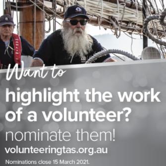 Tasmanian Volunteering Awards 2021