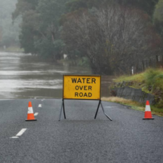 Wet weather conditions affecting roads