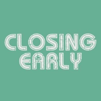 Early Closure: Tuesday 9 April